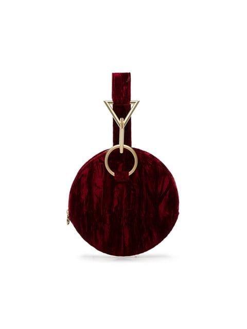 Tara Zadeh Red Azar Velvet Clutch Bag - Farfetch