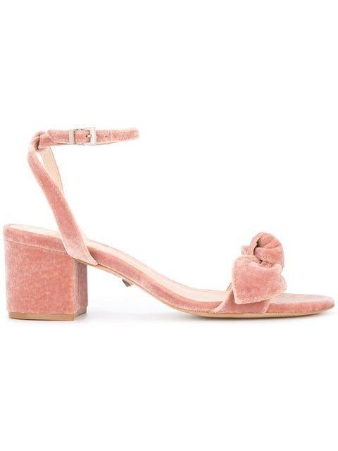 Schutz Bow Upper Velvet Sandals - Farfetch