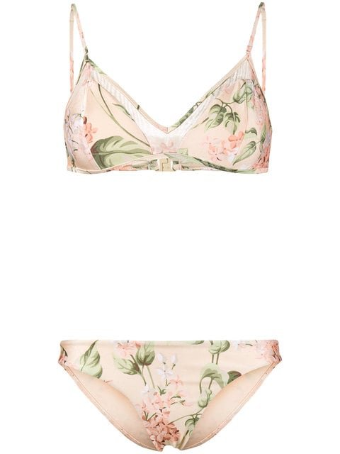 Zimmermann Prima Hydrangea Bikini - Farfetch