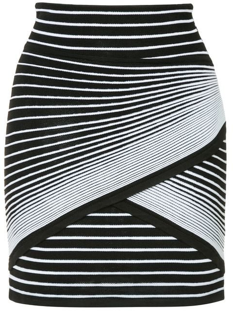 Balmain Striped Mini Skirt - Farfetch