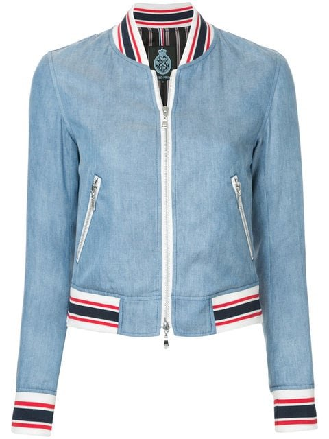 Guild Prime Denim Bomber Jacket  - Farfetch