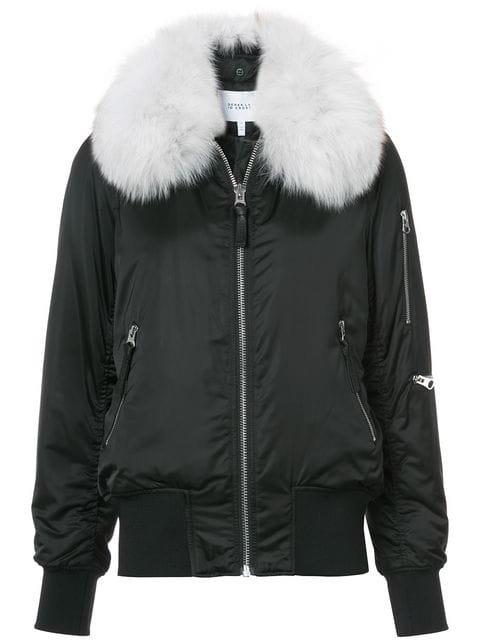 Derek Lam 10 Crosby Fox Fur Collar Bomber Jacket  - Farfetch