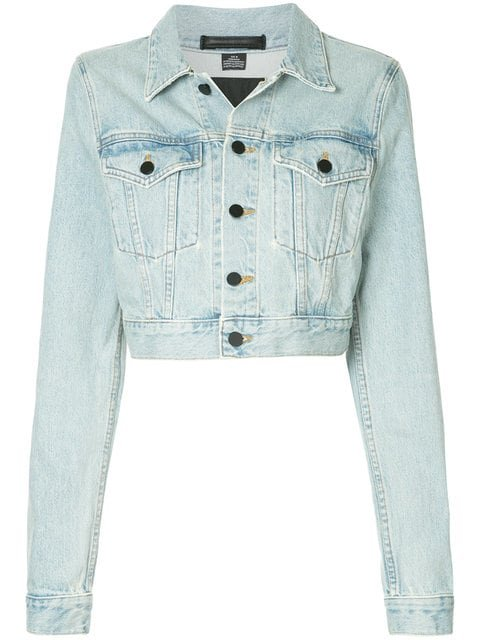 T By Alexander Wang Cropped Denim Jacket - Farfetch