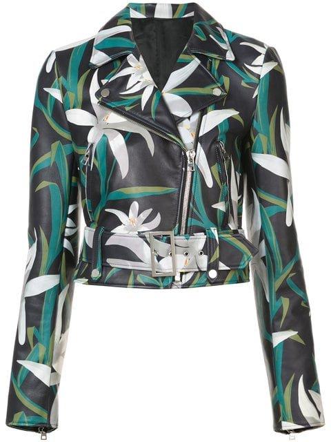Dvf Diane Von Furstenberg Floral Print Biker Jacket - Farfetch