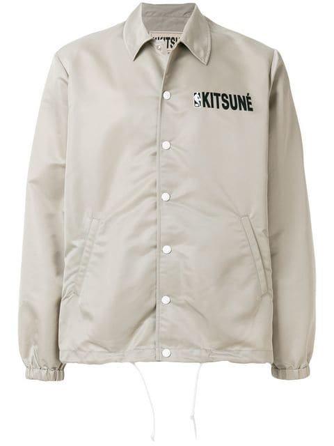 Maison Kitsuné Maison Kitsune x NBA Hooded Coach Jacket - Farfetch