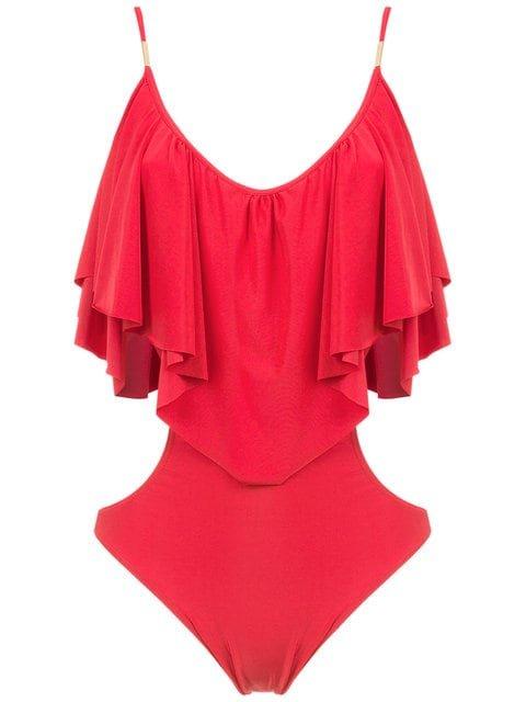Brigitte Ruffled Bodysuit - Farfetch