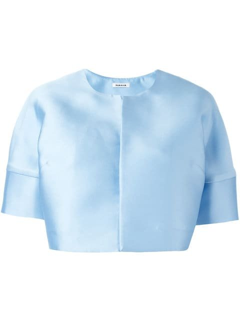 P.A.R.O.S.H. Short Sleeve Cropped Jacket - Farfetch