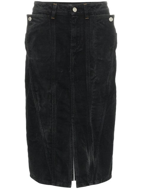Givenchy High Waisted Fitted Denim Skirt - Farfetch