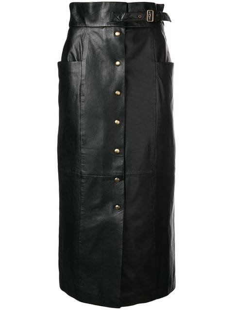 Alberta Ferretti Buttoned Skirt - Farfetch
