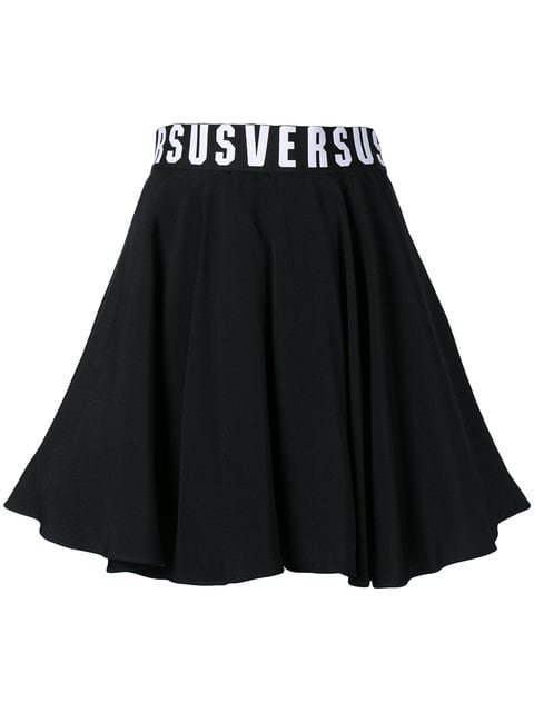 Versus Flared Logo Waist Skirt - Farfetch