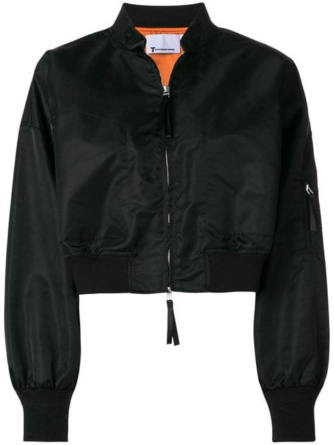 T By Alexander Wang Cropped Bomber Jacket  - Farfetch