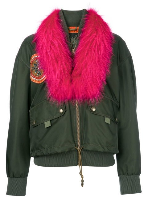Mr & Mrs Italy Detachable Collar Bomber Jacket  - Farfetch