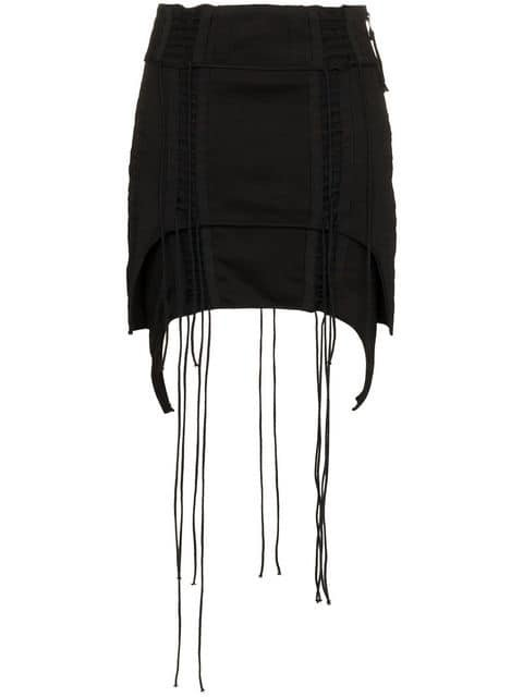 Helmut Lang Aviator Asymmetric Mini-Skirt - Farfetch