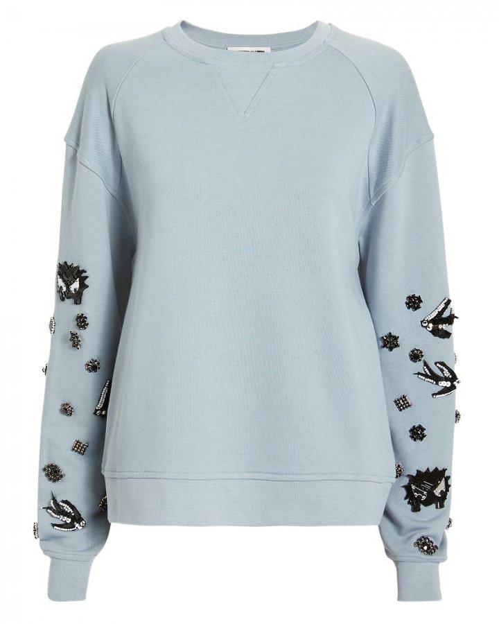 Embellished Sleeve Sweatshirt