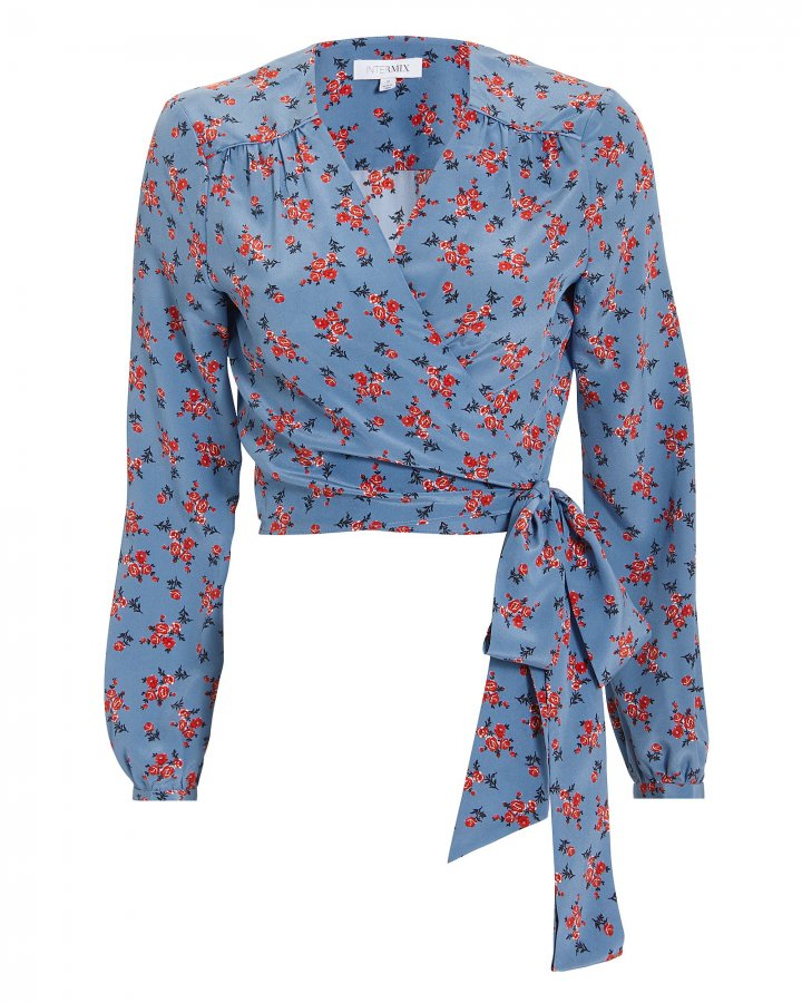 Tansy Floral Wrap Top