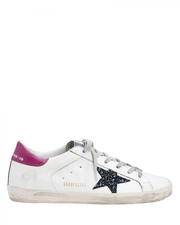 Superstar Glitter Star Low-Top Sneakers