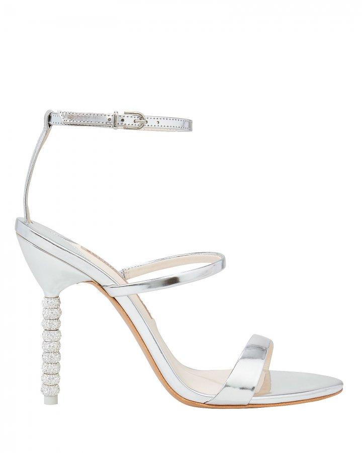Rosalind Silver Crystal Heel Sandals