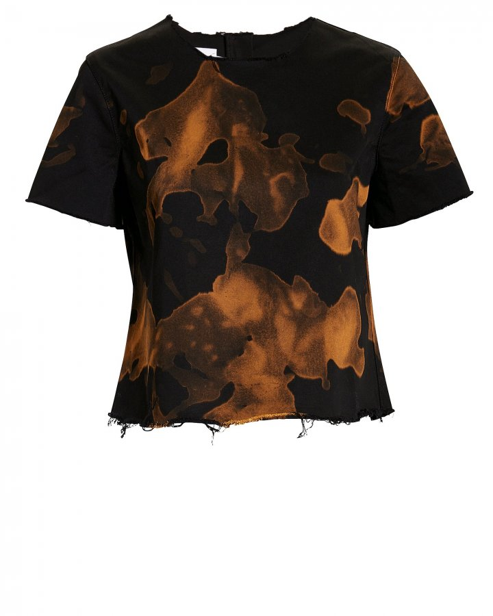 Cap Sleeve Bleached T-Shirt