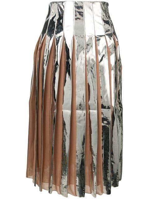 Drome Pleated Shiny Skirt  - Farfetch