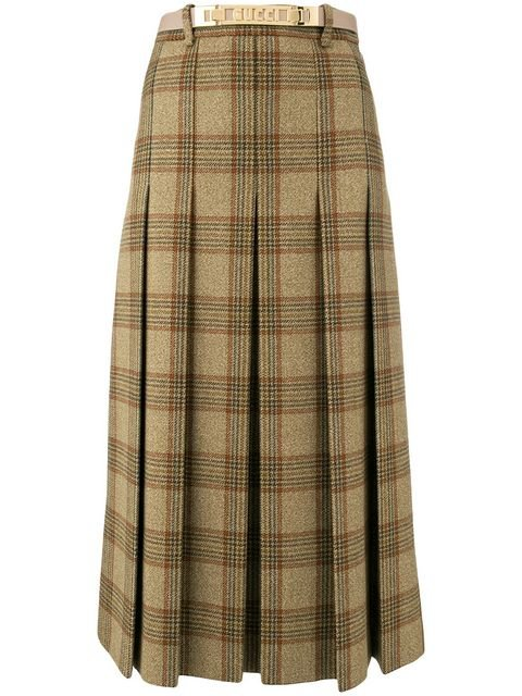 Gucci Checked A-line Skirt - Farfetch