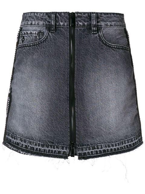 Marcelo Burlon County Of Milan Light Wash Skirt - Farfetch
