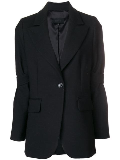 Mm6 Maison Margiela Strap-sleeved Blazer - Farfetch