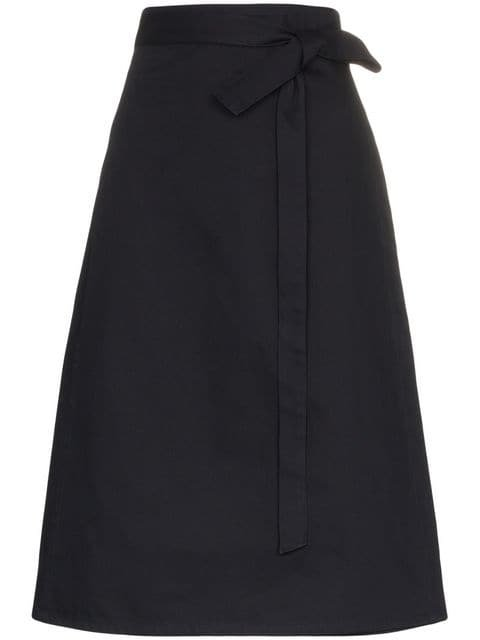 A_Plan_Application High-Waisted Wrap Midi Skirt - Farfetch