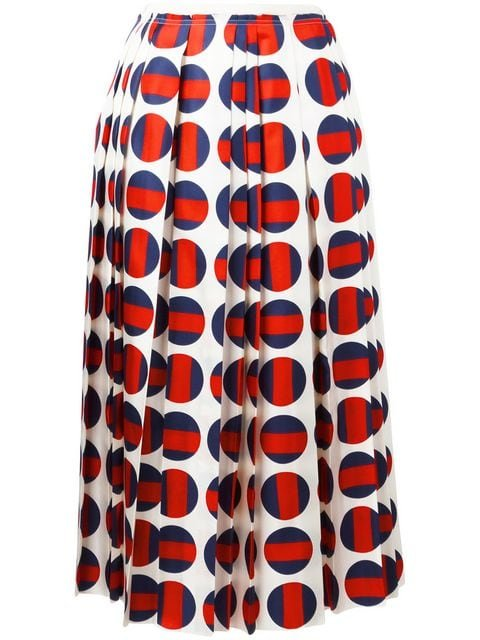 Gucci Polka-dot Pleated Skirt - Farfetch