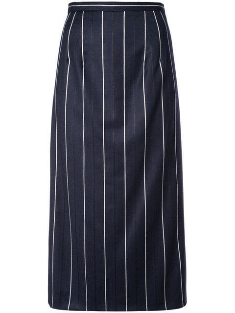 Oscar De La Renta Striped Midi Skirt - Farfetch