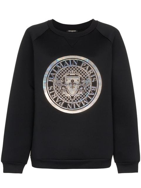 Balmain Graphic Print Jumper - Farfetch