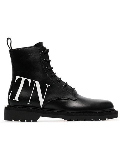 Valentino Valentino Garavani VLTN Combat Boots - Farfetch