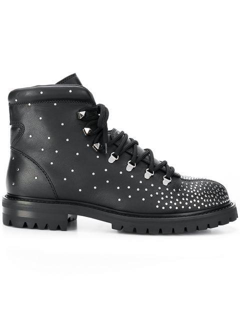 Valentino Valentino Garavani Chunky Combat Boots  - Farfetch