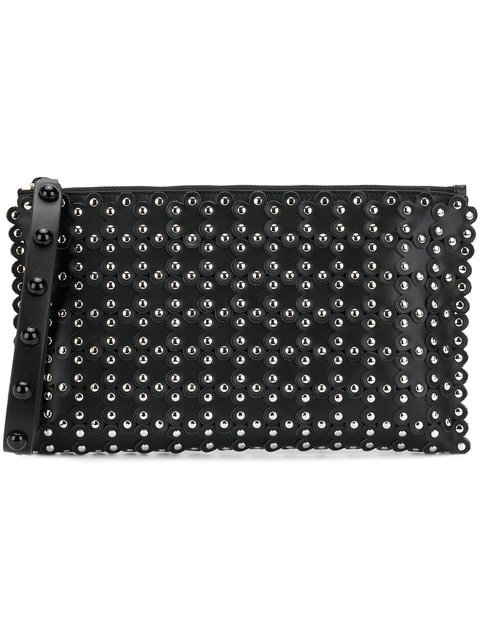 Red Valentino RED(V) Studded Zipped Clutch - Farfetch