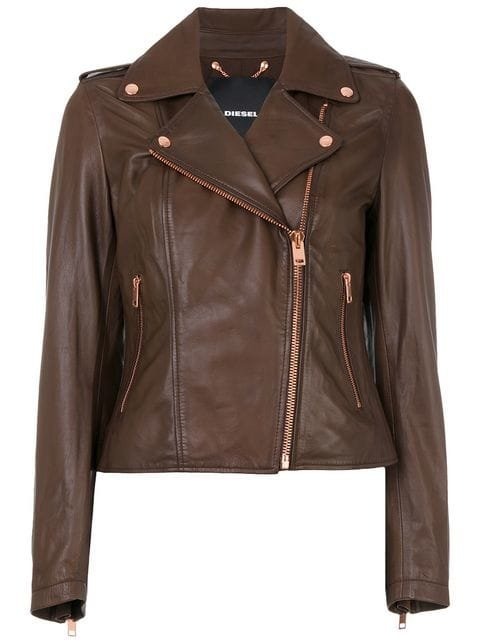 Diesel Cropped Biker Jacket - Farfetch