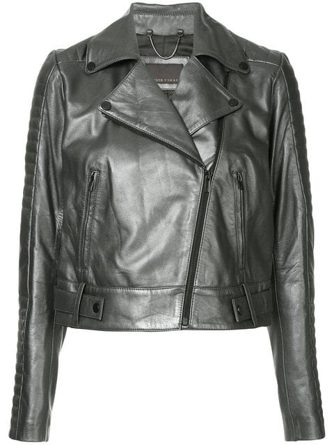 GINGER & SMART Cropped Biker Jacket - Farfetch