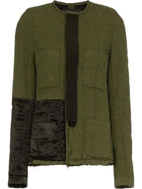Haider Ackermann Collarless Jacket With Patch Details - Farfetch