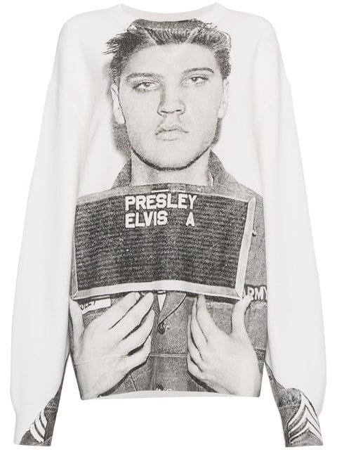 R13 Elvis Mugshot Print Sweatshirt - Farfetch
