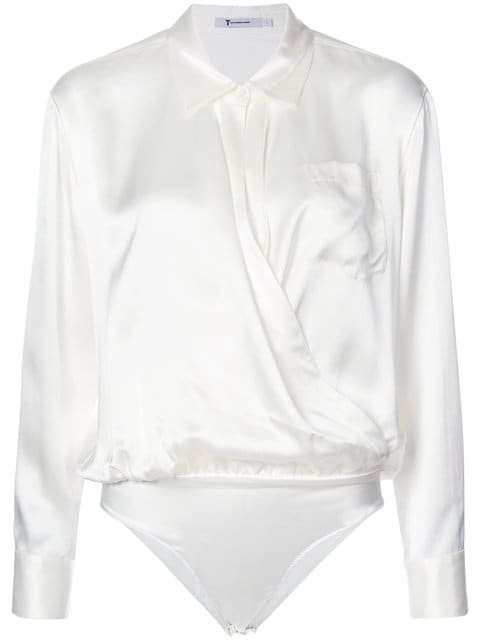 T By Alexander Wang Collared Silk Blouse - Farfetch