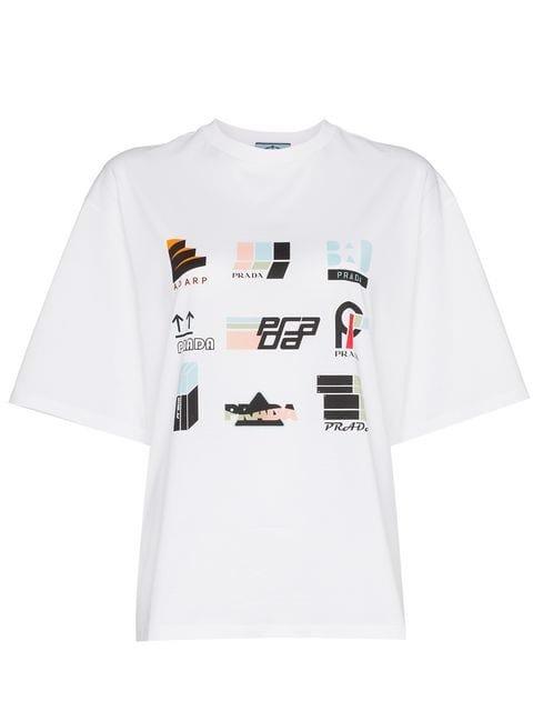 Prada Multicolour Print Short Sleeve T-shirt - Farfetch