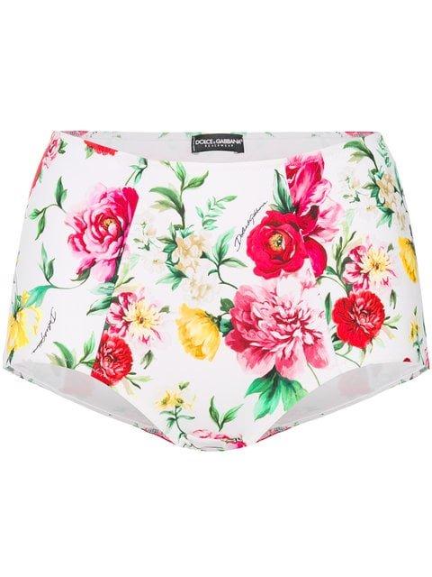 Dolce & Gabbana High Waisted Floral Briefs - Farfetch