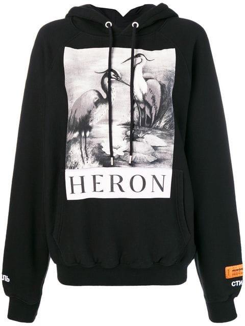 Heron Preston Heron Print Hoodie - Farfetch