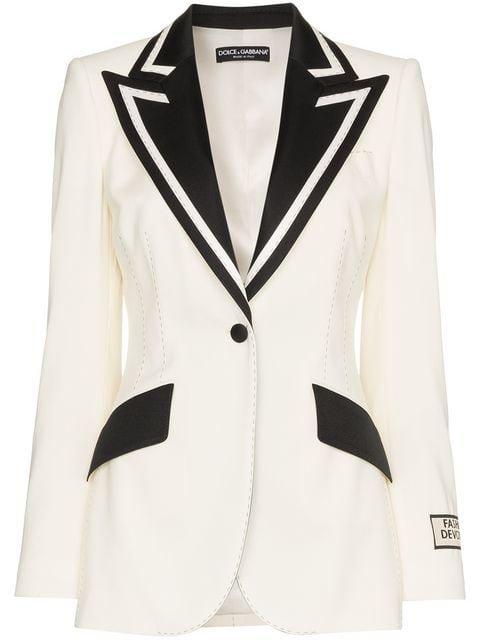 Dolce & Gabbana Monochrome Tux Blazer - Farfetch