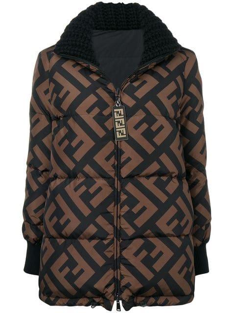 Fendi FF Logo Puffer Jacket - Farfetch