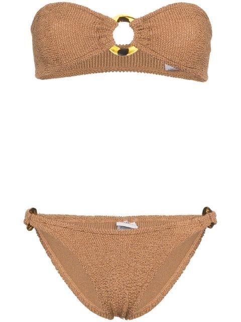 Hunza G Gloria Bandeau Bikini - Farfetch