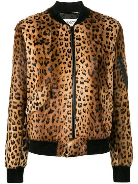 Saint Laurent Leopard-print Bomber Jacket - Farfetch