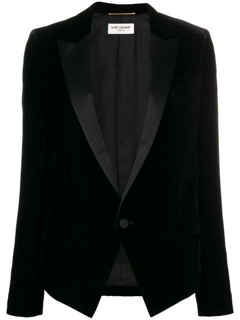 Saint Laurent Fitted Suit Jacket - Farfetch