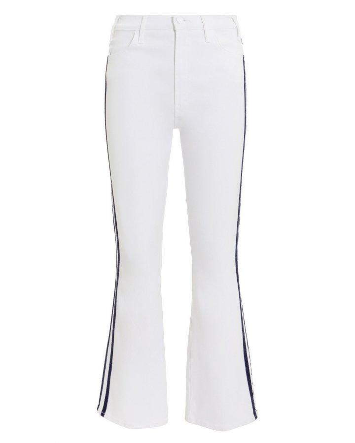 Hustler White Glitter Race Stripe Jeans