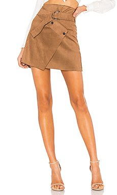 Dionne Skirt In Caramel                                             ASTR the Label