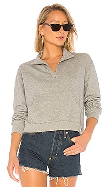 Terry Half Zip Sweatshirt                                             Bobi