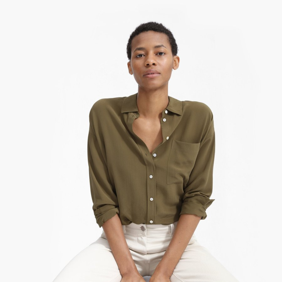 The Clean Silk Oversized Shirt